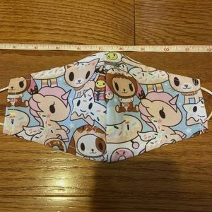 Accessories - Handmade Tokidoki Unicorn Face Mask with Nose Wire